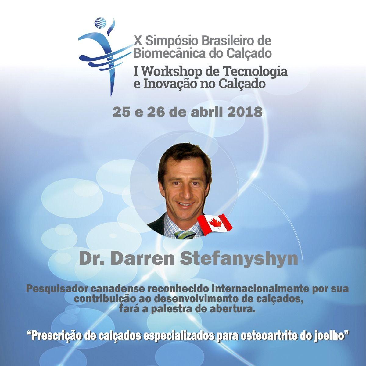 Pesquisador canadense fará a palestra de abertura do Simpósio de Biomecânica do Calçado