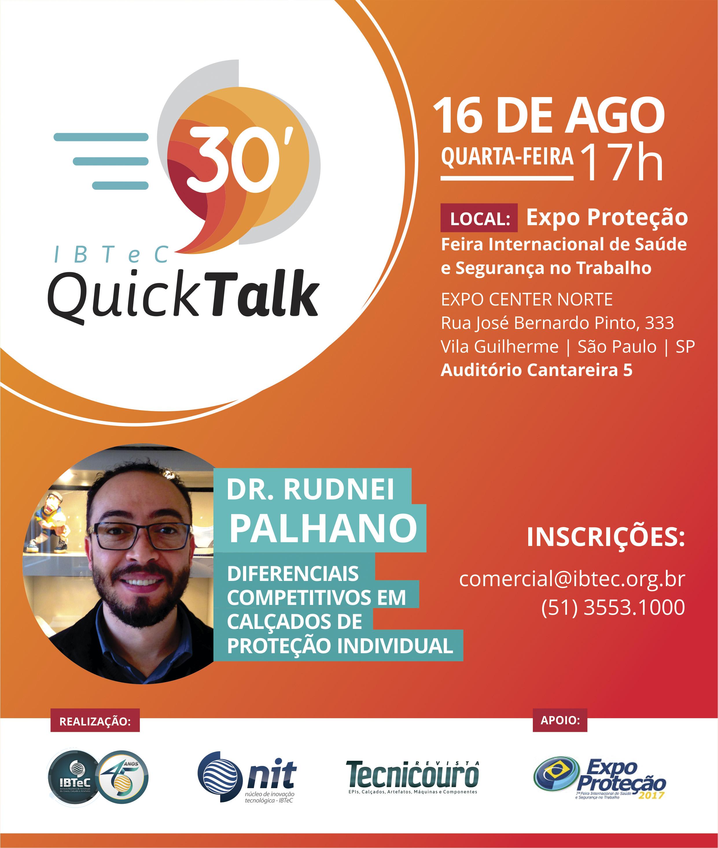 Pesquisador do IBTeC falará em São Paulo sobre conforto em calçados de segurança