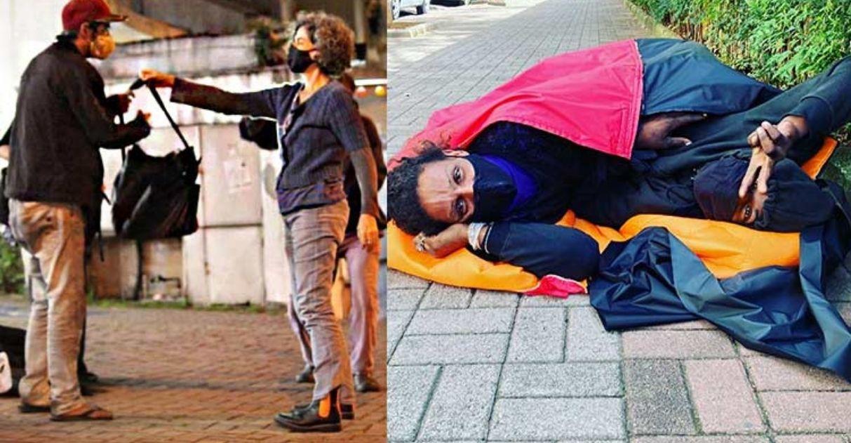 Solidariedade: Estilista cria saco de dormir impermeável que pode ser carregado para pessoas em situação de rua