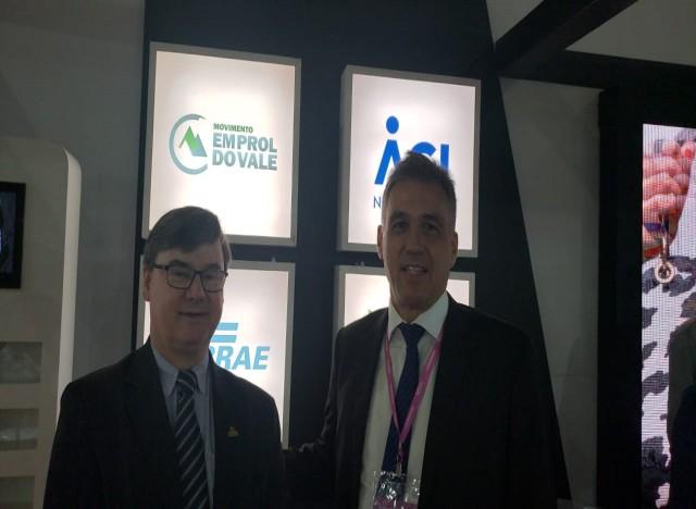 Paulo Griebeler (Presidente Executivo IBTeC) e o Diretor de Administração e Finanças do Sebrae/São Paulo