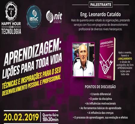 """Professor Leonardo Cataldo falará no primeiro Happy Hour do IBTeC sobre """"Aprendizagem: lições para toda vida"""""""