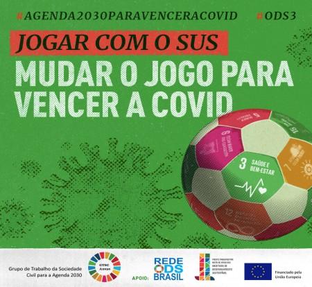 Futebol é mote de campanha para divulgar a Agenda 2030 e enfrentar a Covid
