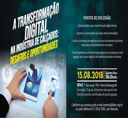 Gestor de comunicação digital apontará caminhos para a conexão na indústria calçadista, no Happy Hour com Tecnologia, dia 15 de agosto