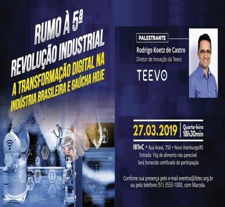 """Rumo à 5ª Revolução Industrial"""" será o tema do Happy Hour com Tecnologia do IBTeC"""