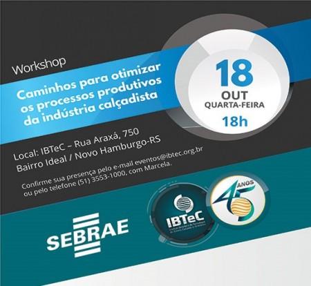 IBTeC e Sebrae realizarão workshop sobre Qualidade e Produtividade