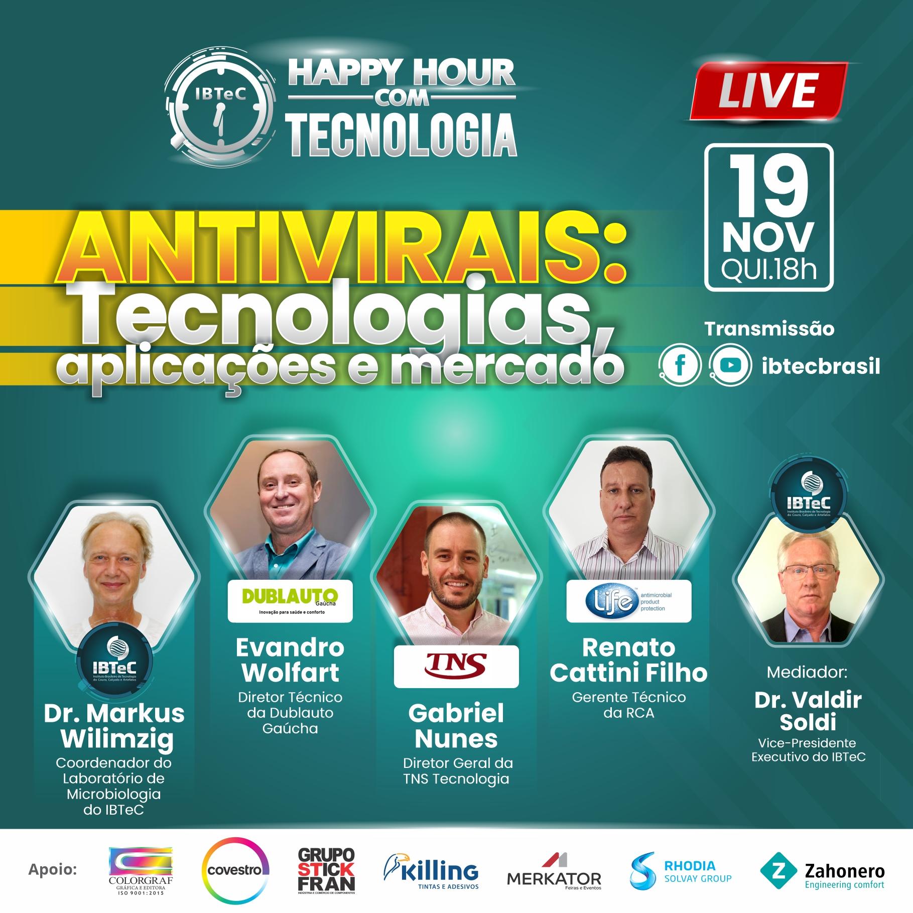 LIVE! Antivirais: Tecnologias, aplicações e mercado