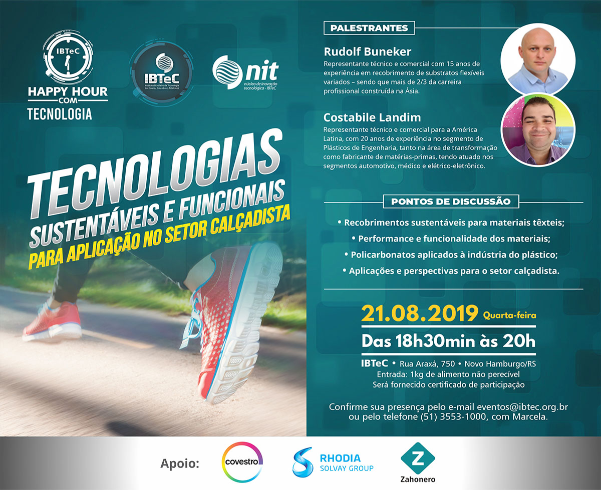 Tecnologias sustentáveis e funcionais para aplicação no setor calçadista